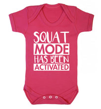 Squat mode activated Baby Vest dark pink 18-24 months