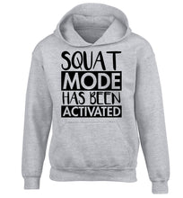 Squat mode activated children's grey hoodie 12-14 Years