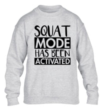 Squat mode activated children's grey sweater 12-14 Years