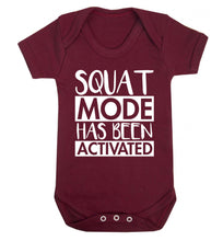Squat mode activated Baby Vest maroon 18-24 months