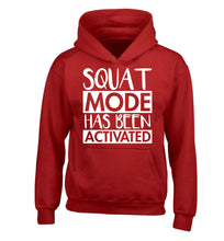 Squat mode activated children's red hoodie 12-14 Years