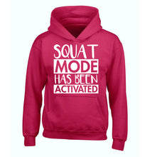 Squat mode activated children's pink hoodie 12-14 Years