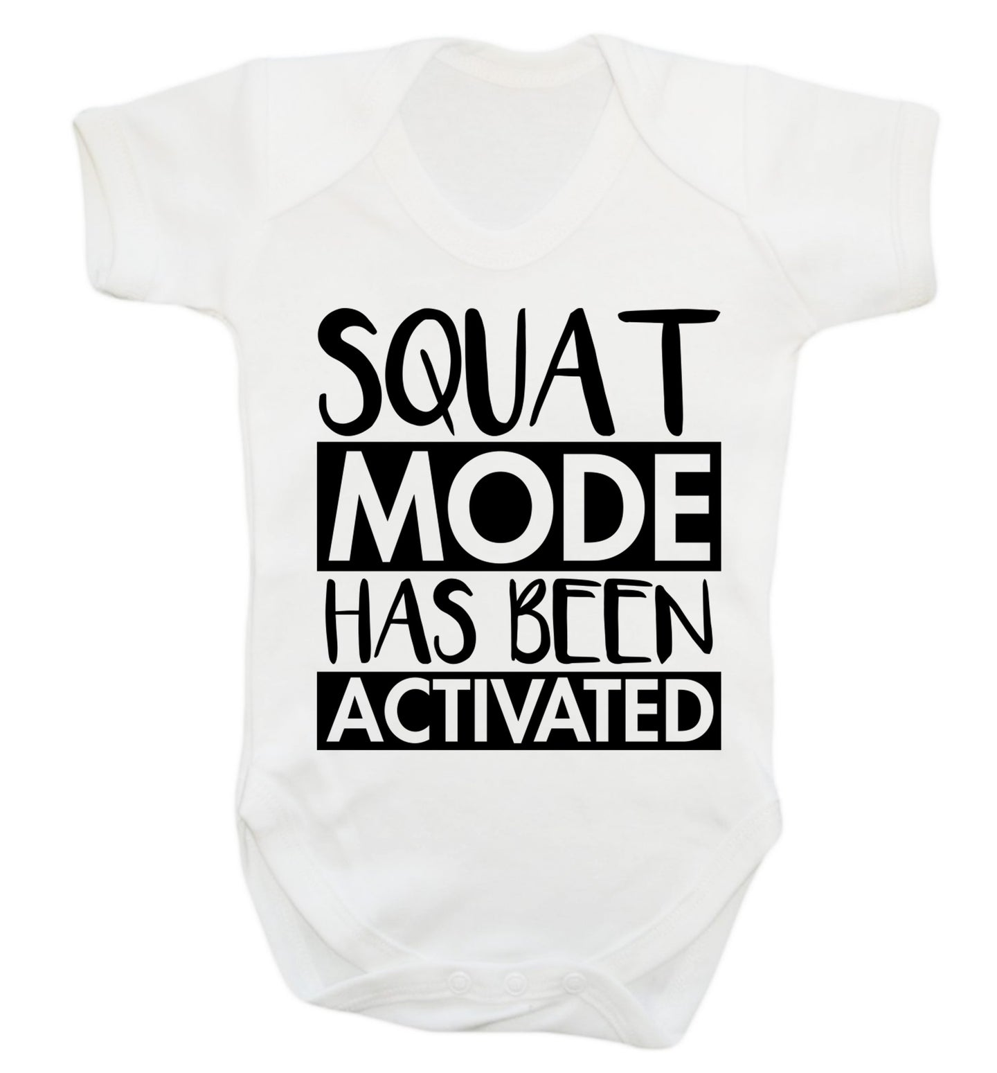 Squat mode activated Baby Vest white 18-24 months