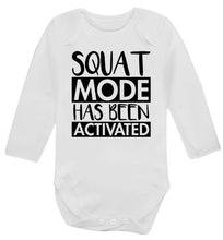 Squat mode activated Baby Vest long sleeved white 6-12 months