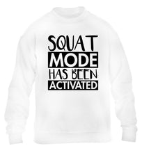 Squat mode activated children's white sweater 12-14 Years