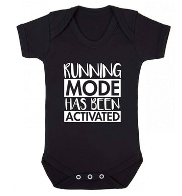 Running mode has been activated baby vest black 18-24 months