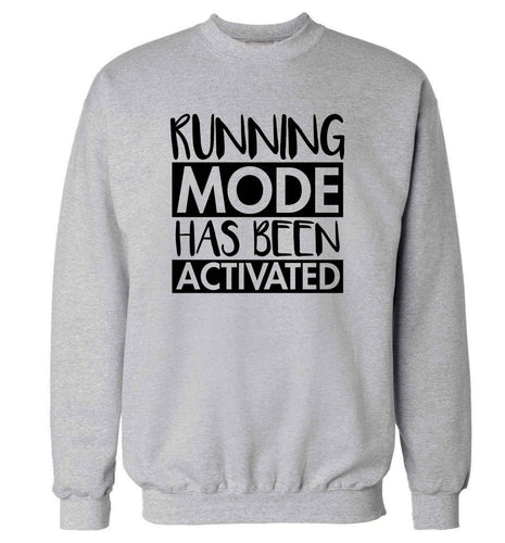 Running mode has been activated adult's unisex grey sweater 2XL