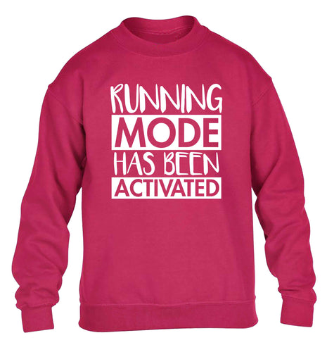 Running mode has been activated children's pink sweater 12-13 Years