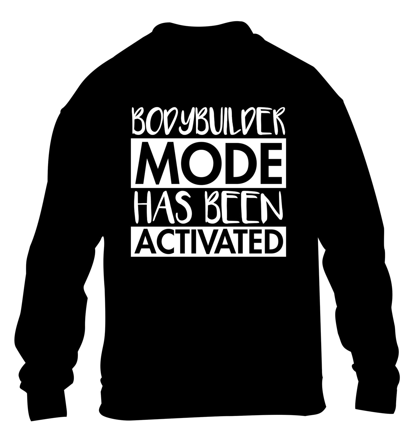 Bodybuilder mode activated children's black sweater 12-14 Years