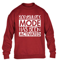 Bodybuilder mode activated children's grey sweater 12-14 Years