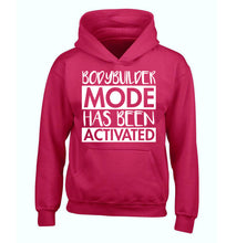 Bodybuilder mode activated children's pink hoodie 12-14 Years