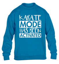 Karate mode activated children's blue sweater 12-14 Years