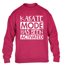 Karate mode activated children's pink sweater 12-14 Years