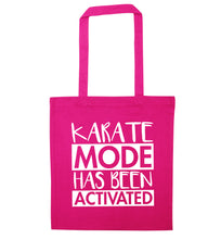Karate mode activated pink tote bag