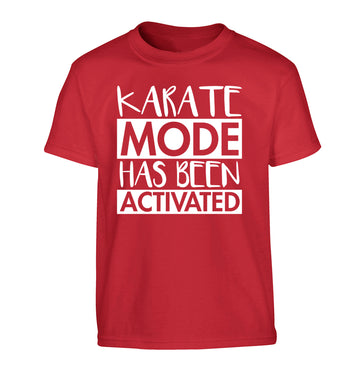 Karate mode activated Children's red Tshirt 12-14 Years