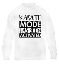 Karate mode activated children's white sweater 12-14 Years