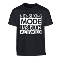 Kickboxing mode activated Children's black Tshirt 12-14 Years