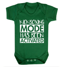 Kickboxing mode activated Baby Vest green 18-24 months