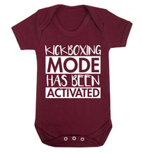 Kickboxing mode activated Baby Vest maroon 18-24 months