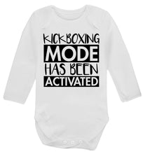 Kickboxing mode activated Baby Vest long sleeved white 6-12 months