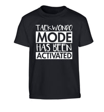 Taekwondo mode activated Children's black Tshirt 12-14 Years