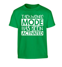 Taekwondo mode activated Children's green Tshirt 12-14 Years