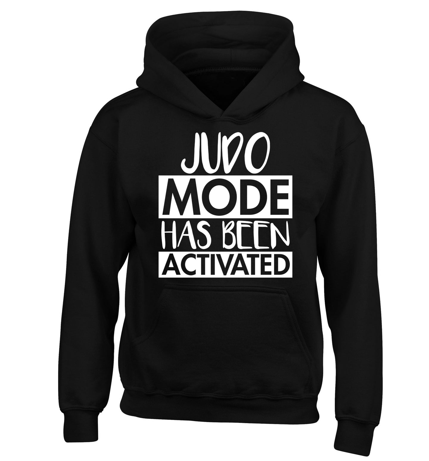 Judo mode activated children's black hoodie 12-14 Years