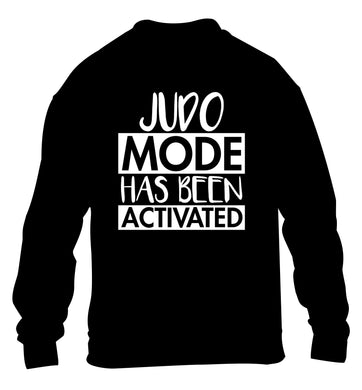 Judo mode activated children's black sweater 12-14 Years