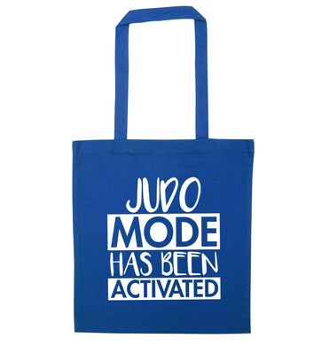 Judo mode activated blue tote bag