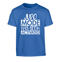 Judo mode activated Children's blue Tshirt 12-14 Years