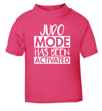 Judo mode activated pink Baby Toddler Tshirt 2 Years