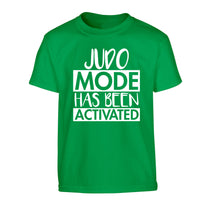 Judo mode activated Children's green Tshirt 12-14 Years