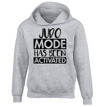 Judo mode activated children's grey hoodie 12-14 Years