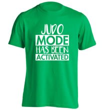Judo mode activated adults unisex green Tshirt 2XL