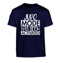 Judo mode activated Children's navy Tshirt 12-14 Years