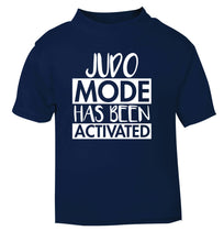 Judo mode activated navy Baby Toddler Tshirt 2 Years