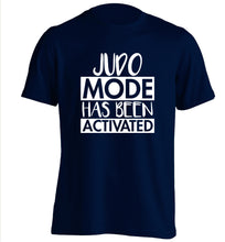 Judo mode activated adults unisex navy Tshirt 2XL