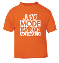 Judo mode activated orange Baby Toddler Tshirt 2 Years