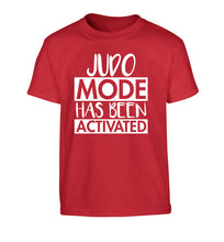 Judo mode activated Children's red Tshirt 12-14 Years