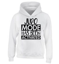 Judo mode activated children's white hoodie 12-14 Years