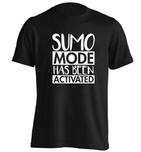 Sumo mode activated adults unisex black Tshirt 2XL