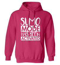 Sumo mode activated adults unisex pink hoodie 2XL