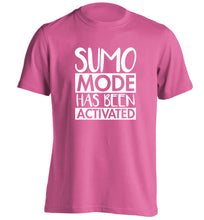 Sumo mode activated adults unisex pink Tshirt 2XL