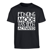 Fencing mode activated Children's black Tshirt 12-14 Years