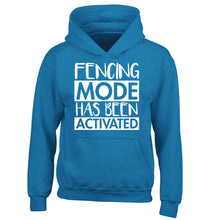 Fencing mode activated children's blue hoodie 12-14 Years