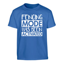 Fencing mode activated Children's blue Tshirt 12-14 Years