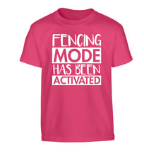 Fencing mode activated Children's pink Tshirt 12-14 Years