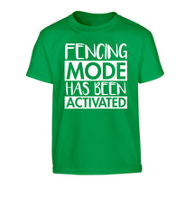 Fencing mode activated Children's green Tshirt 12-14 Years