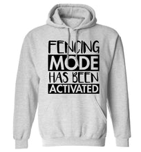 Fencing mode activated adults unisex grey hoodie 2XL