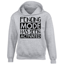 Fencing mode activated children's grey hoodie 12-14 Years
